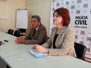 Delegados Fernando Vilaça e Adriene Lopes contam detalhes sobre o esquema (Foto: Ricardo Welbert/G1)