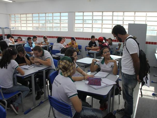 Caio Dib visita a escola Pentecoste,  (Foto: Acervo Pessoal)