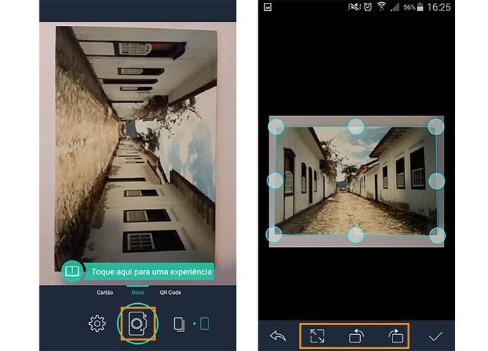 Usando um app scanner para celular Android (Foto: Reprodução/Barbara Mannara)