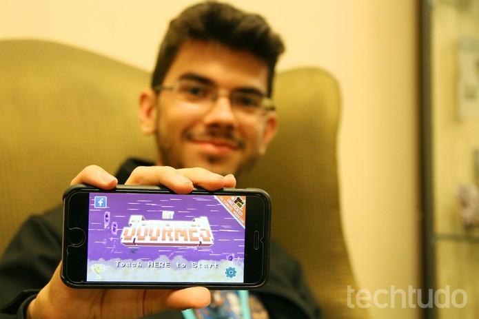 Com visual 8 bit, app viciante está gratuito na App Store (Foto: Fabrício Vitorino/TechTudo)