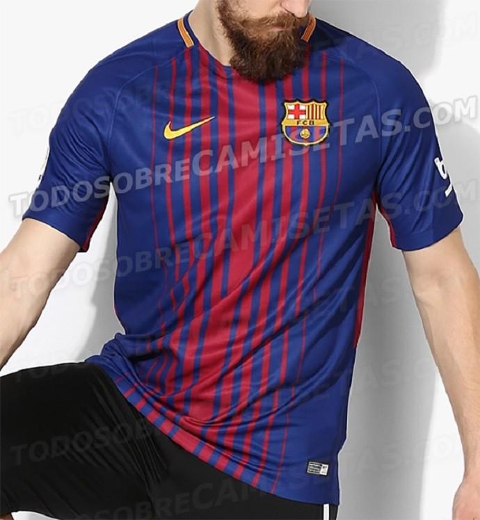 1a3a905fc144d Site vaza novas imagens da futura camisa do Barcelona
