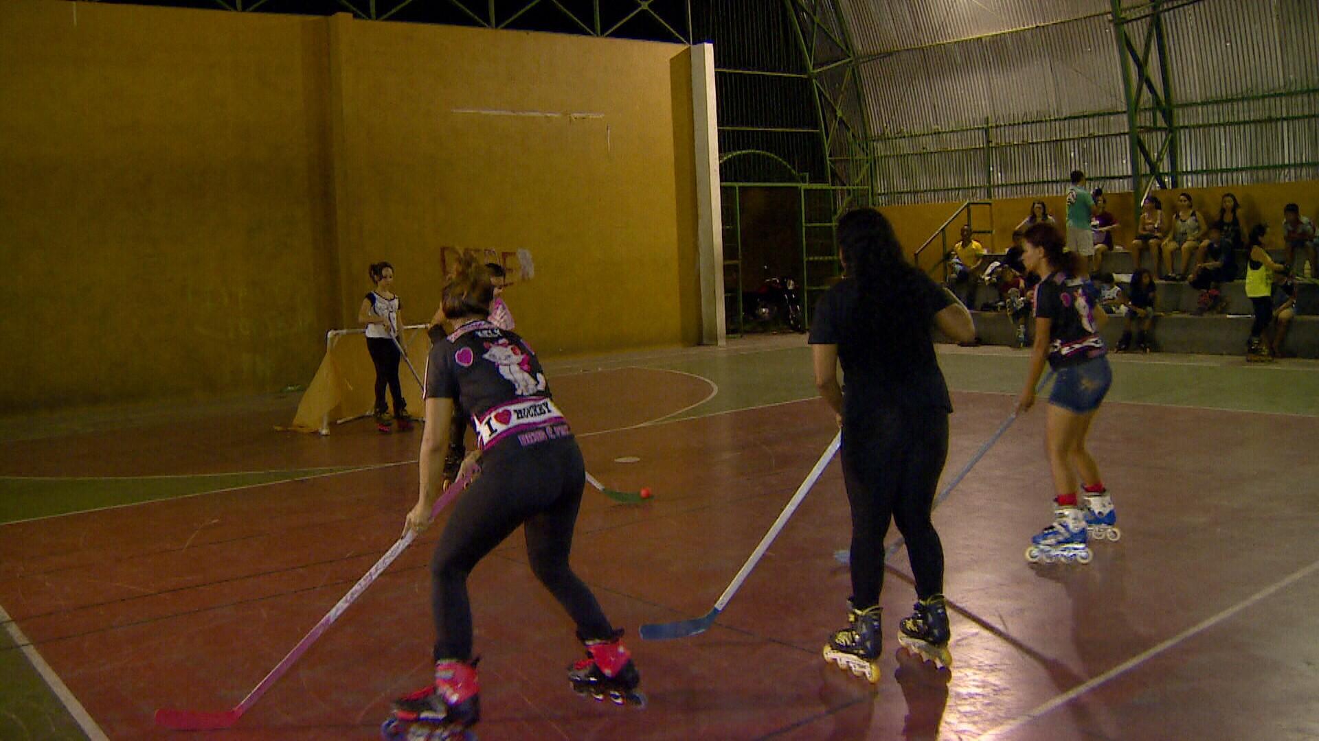 Confira a turma que pratica Hockey, esporte do gêlo, em Manaus (Foto: Amazônia Revista)