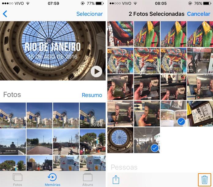 Exclua as fotos e vídeos do seu aparelho para não aparecer em nenhum slide (Foto: Reprodução)