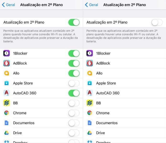 Desative os aplicativos em segundo plano (Foto: Reprodução/Helito Bijora)