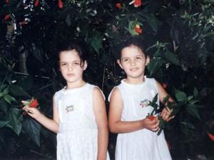 Irmãos, quando crianças, ainda como meninas, em Muzambinho (MG).  (Foto: Arquivo Pessoal)