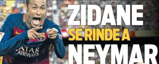 """Jornal """"celebra"""" declaração de Zidane sobre Neymar (Reprodução)"""