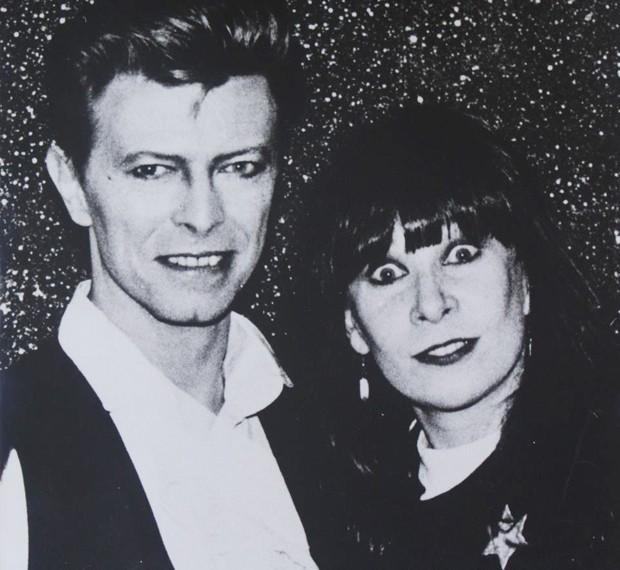 Bowie e Rita: encontro em 1990 (Foto: Arquivo da artista)