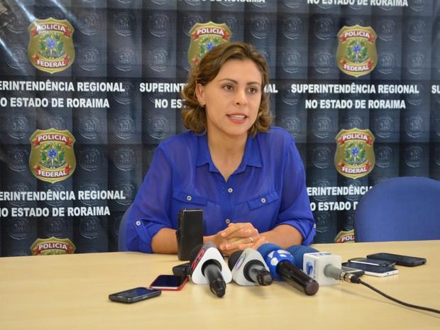 A delegada Denisse Dias falou sobre o esquema de tráfico internacional de mulheres em Roraima (Foto: Inaê Brandão/G1 RR)