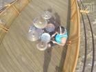'Batera' que gravou no Rio Piracicaba seco faz nova homenagem com cheia