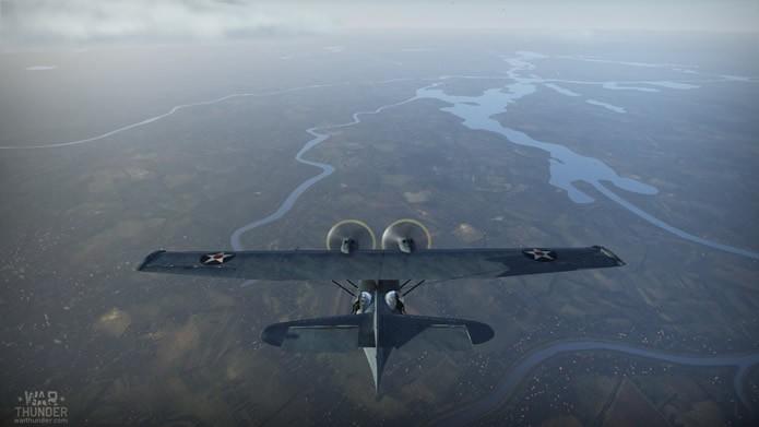 As partidas de combates aéreos de War Thunder possuem as mais incríveis perspectivas (Foto: Reprodução/Daniel Ribeiro)