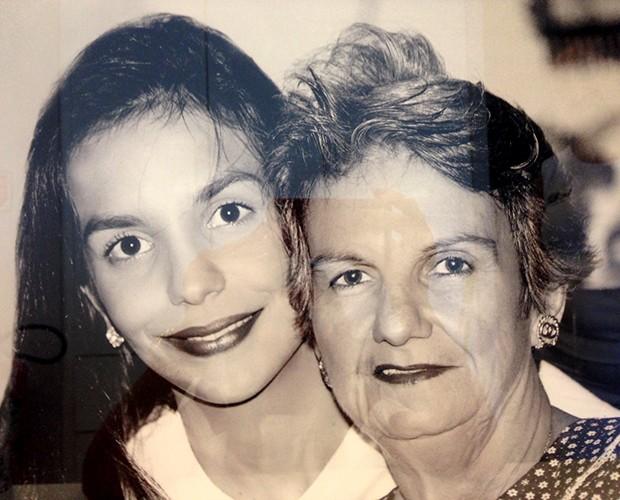 Ivete Sangalo e mãe (Foto: Arquivo Pessoal)