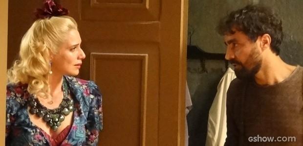 Fim do romance! Português termina noivado com Lola (Foto: Joia Rara/TV Globo)