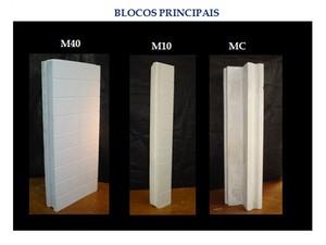 Três blocos principais dão a sustenção das paredes da casa, segundo professor da UFPB (Foto: Normando Perazzo/Arquivo Pessoal)
