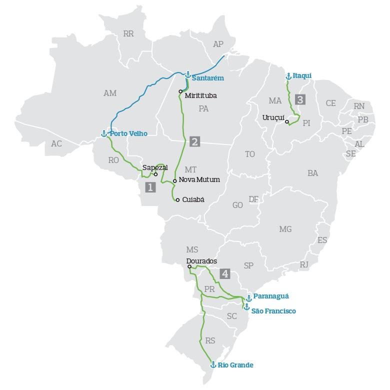 mapa-caminhos-2015 (Foto: Arte: FIlipe Borin/Ed.Globo)