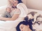 Tainá Müller mostra momento fofo em família com o filho Martin, de 3 meses