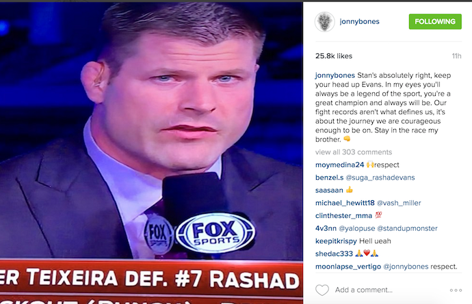 "BLOG: Após derrota de Rashad, Jones surpreende e manda mensagem: ""Lenda"""