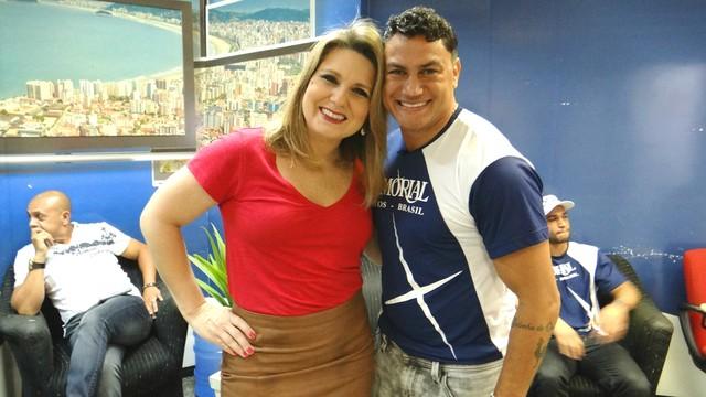 Acelino Popó Freitas no Tribuna Esporte (Foto: Fernanda Maciel)