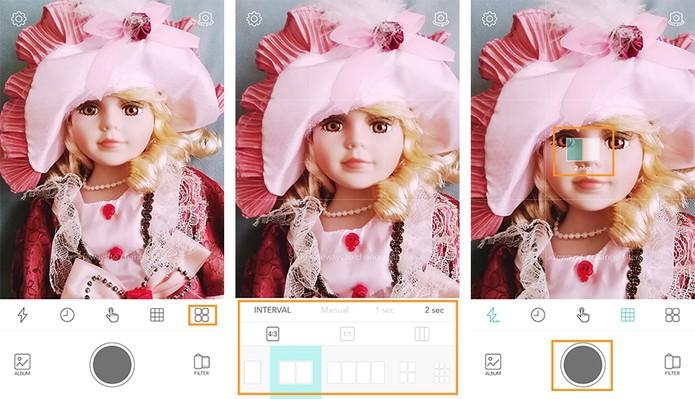 Fazendo montagens com diversas fotos pelo app (Foto: Reprodução/Barbara Mannara)