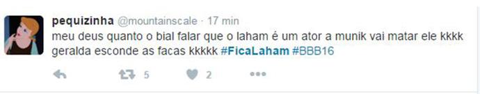 Laham_Tweet 8 (Foto: Reprodução Internet)
