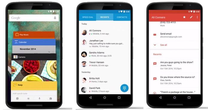 Android Lollipop tem aparência totalmente remodelada (Foto: Divulgação/Google)