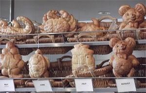 Pães em formato de bichos na padaria Boudin (Foto: Flávia Mantovani/G1)