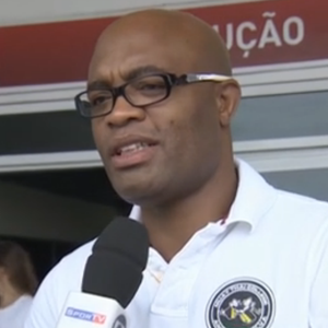 Anderson Silva; lutador; Jogos Intercolegiais (Foto: Reprodução/SporTV)
