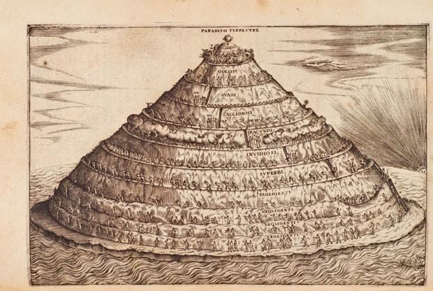 Dante: con l'espositione di m. Bernardino Daniello da Lucca, sopra la sua comedia dell'inferno, del purgatorio, & del paradiso' (1568) (Foto: Reprodução)
