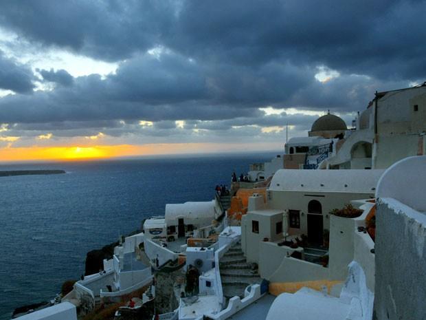 Santorini, na Grécia (Foto: Yannis Kolesidis/The New York Times)