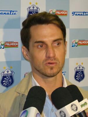 Sávio, gerente de futebol do Guarani de Palhoça (Foto: Divulgação Guarani de Palhoça /  J.Muller (Primeira Folha))