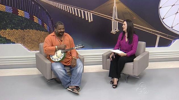 Arlindo Cruz em entrevista no Amazonas TV (Foto: Amazonas TV)