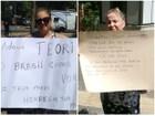 Com cartazes, população faz últimas homenagens a ministro Teori Zavaski