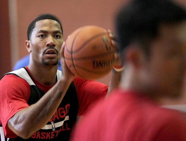 Derrick Rose treino basquete Flamengo NBA (Foto: EFE)