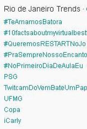 Trending Topics no Rio às 17h08 (Foto: Reprodução)