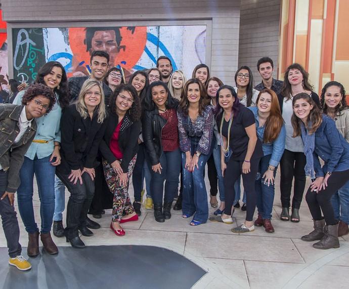 Mais plateia com a Fátima  (Foto: Artur Meninea/Gshow)