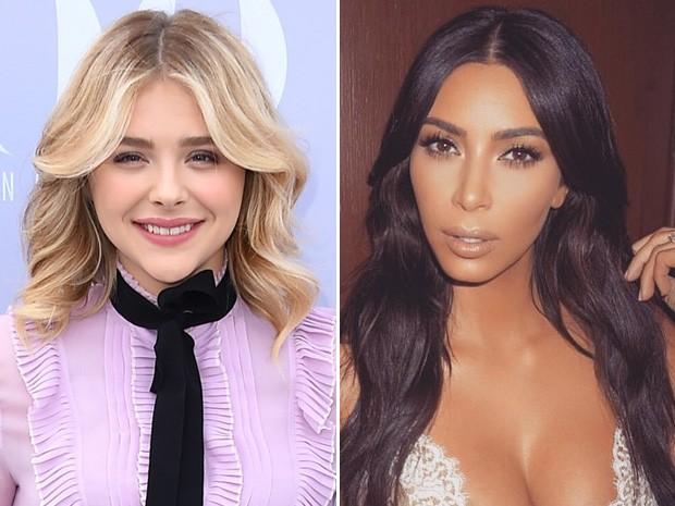 Chloë Moretz X Kim Kardashian (Foto: Getty Images/Instagram)