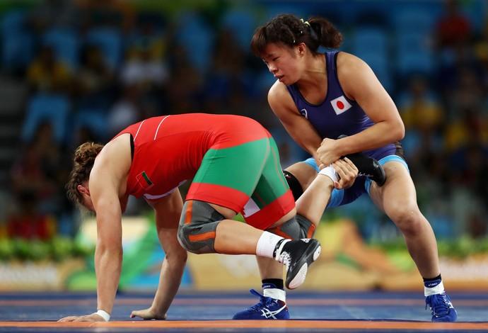 Risako Kawai ouro luta olímpica Rio 2016 categoria 63kg (Foto: Getty Images)