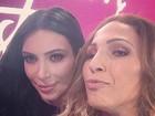 Valesca Popozuda mostra foto com Kim Kardashian: 'Melhor selfie da vida'
