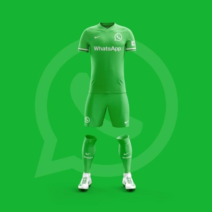a1120dec2f169 Site de design cria camisas de futebol para aplicativos populares de ...