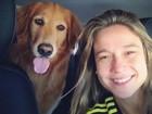 Longe de casa há um mês, Fernanda Gentil sofre de saudade de sua cadela