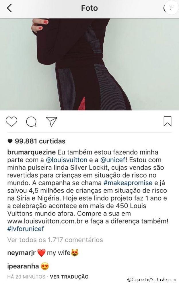 Comentário do jogador na foto da atriz (Foto: reprodução/Instagram)
