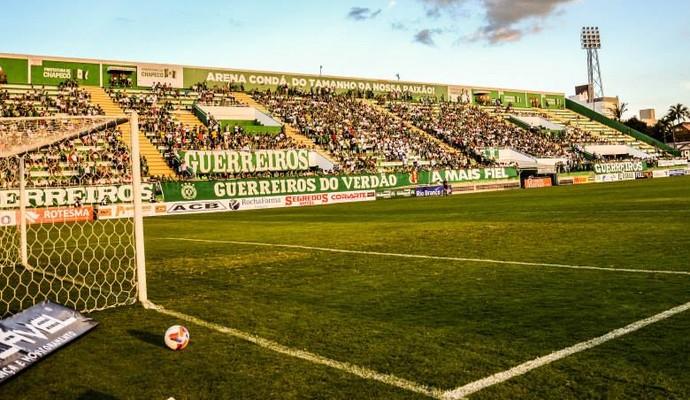 Arena Condá dia (Foto: Francieli Constante/Chapecoense)