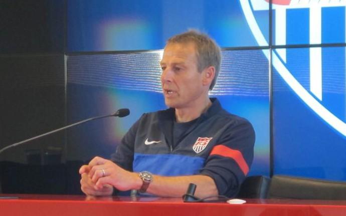 Klinsmann coletiva Estados Unidos EUA no CT do São Paulo (Foto: Diego Ribeiro)