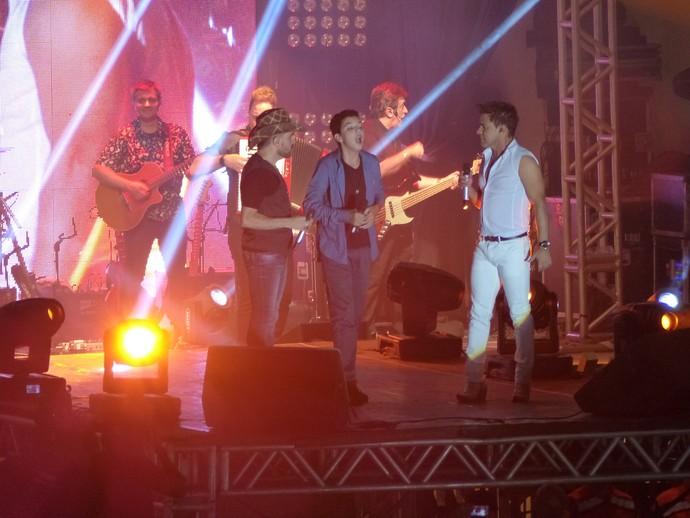 Wagner Barreto The Voice Kids e Zezé Di Camargo e Luciano (Foto: Divulgação/ RPC)