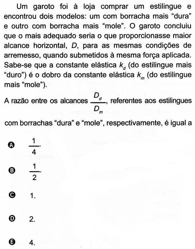 7 - Estilingue (1º Dia - 70 da Prova Azul) (Foto: Reprodução/Inep)