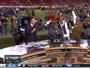 Campeão do Super Bowl rouba a cena com tombo ao vivo e provoca rival