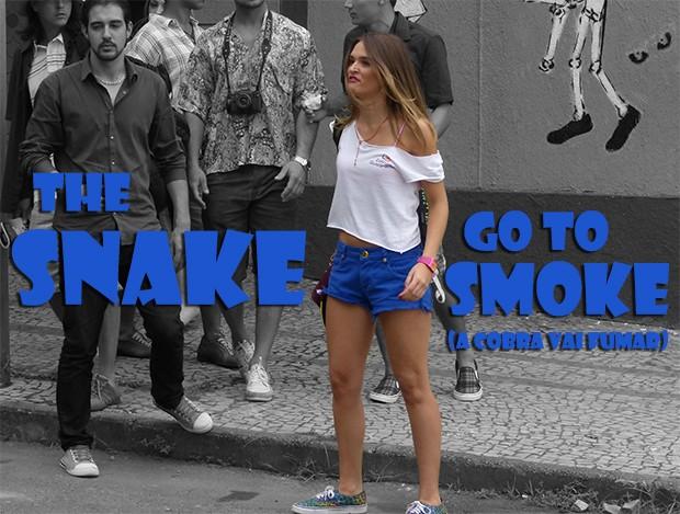 The snake go to smoke! (Foto: Malhação / TV Globo)