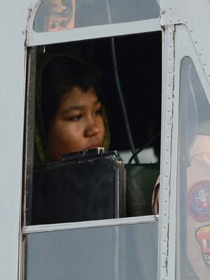 Rimsha Masih, garota cristã acusada de blasfêmia sai da prisão e é levada a 'lugar seguro' em helicóptero (Foto: AFP)