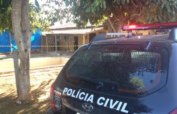 Prefeito de Matrinchã e mulher foram mortos em chácara onde moravam, Goiás (Foto: Vanessa Martins/G1)
