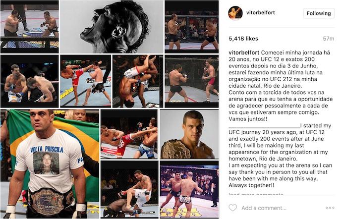 """BLOG: Belfort convoca torcida para luta de despedida no UFC Rio: """"Vamos juntos"""""""