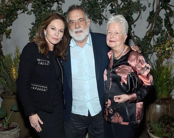 Diane Lane, Francis Ford Coppola e Eleanor Coppola (Foto: Getty Images)